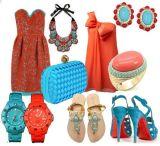 Moda – Turquesa & Coral: duplaimbatível